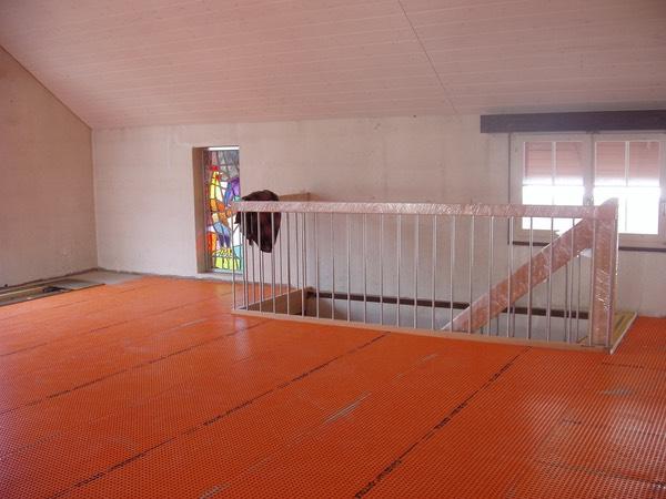 umbau küche wohnzimmer:Wohnzimmer Treppe im Umbau
